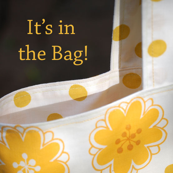 Sew  a recycled tote bag