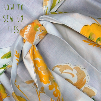 How to Sew on Ties