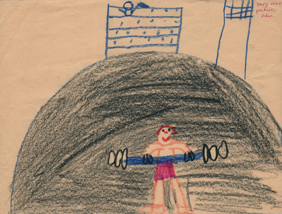 A drawing from second grade.