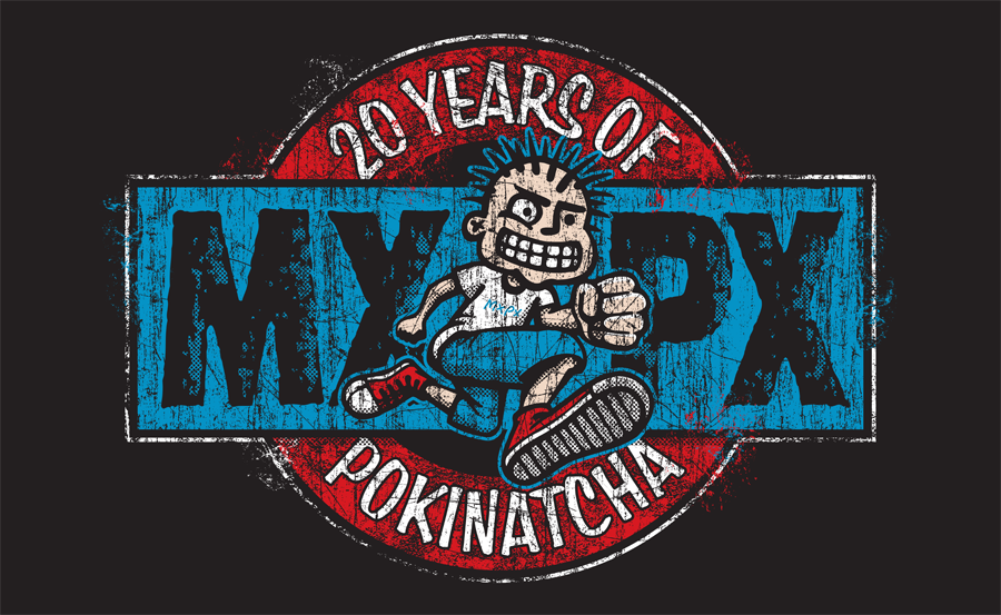 T-SHIRT DESIGN TO CELEBRATE THE 20 YEAR ANNIVERSARY OF POKINATCHA. YOU CAN GET ONE AT  MXPX.COM
