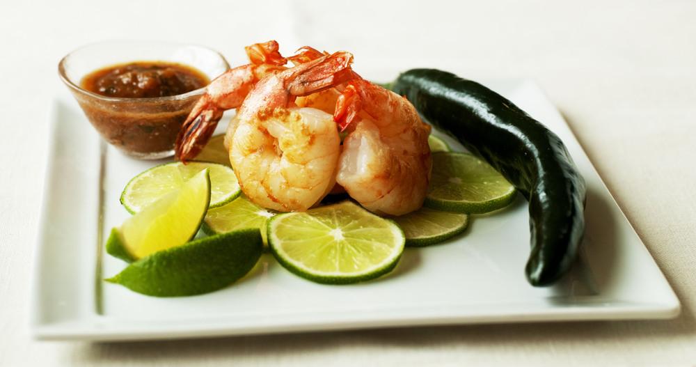 Chipotle Shrimp. Salsa Asado