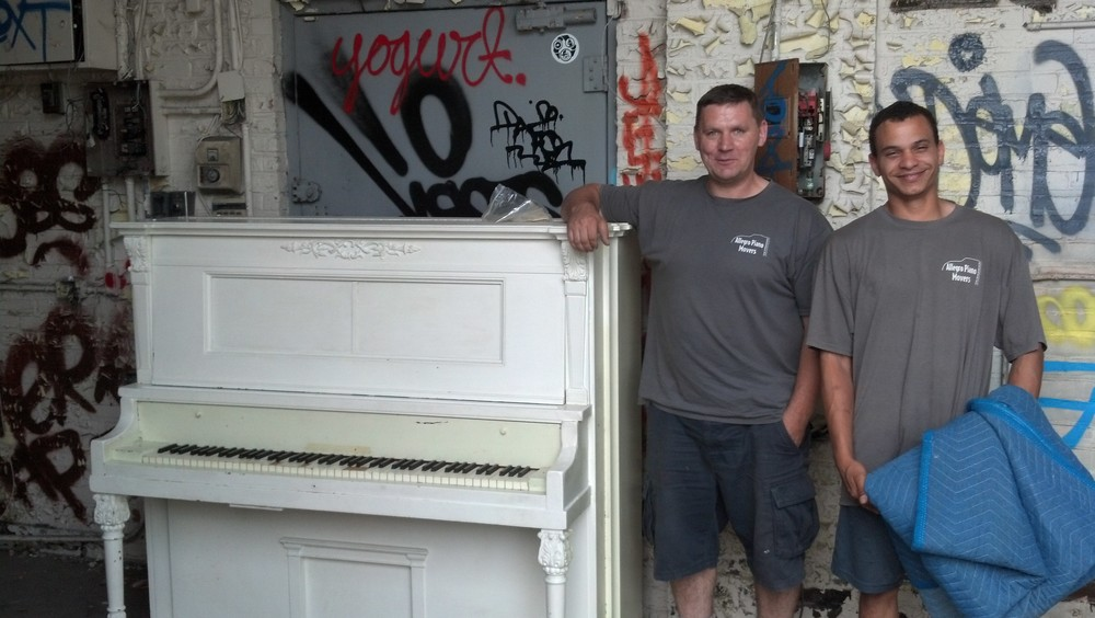 Thanks to Victor from Allegro Piano  Movers for arranging the donation and delivering our new piano!