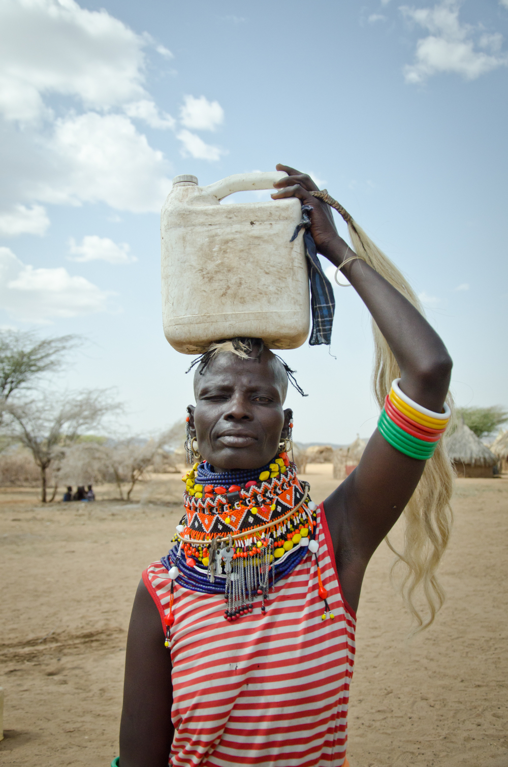 ​When the water truck doesn't come to Lopii, women have to walk 13km to get what their family needs for the day. Because that takes so long, sometimes they have to sleep at the water site, or risk being attacked by cattle rustlers or wild animals on the walk home.