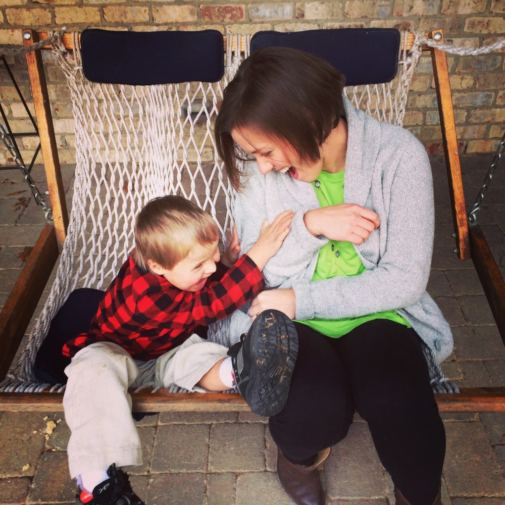 My sister-in-law Stacey with Lindsay's little guy Emory