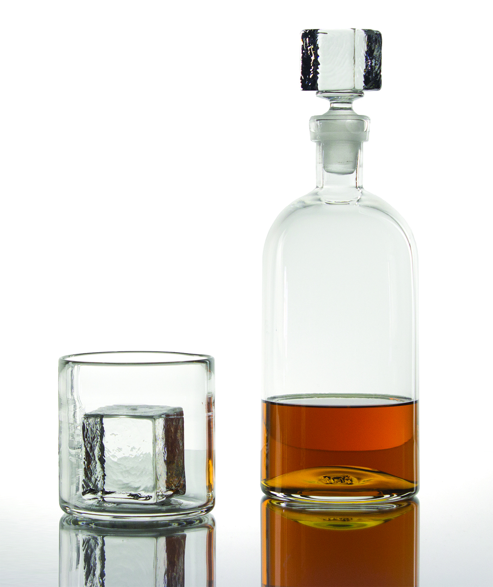 Cube Glass: Rocks, Cube Decanter