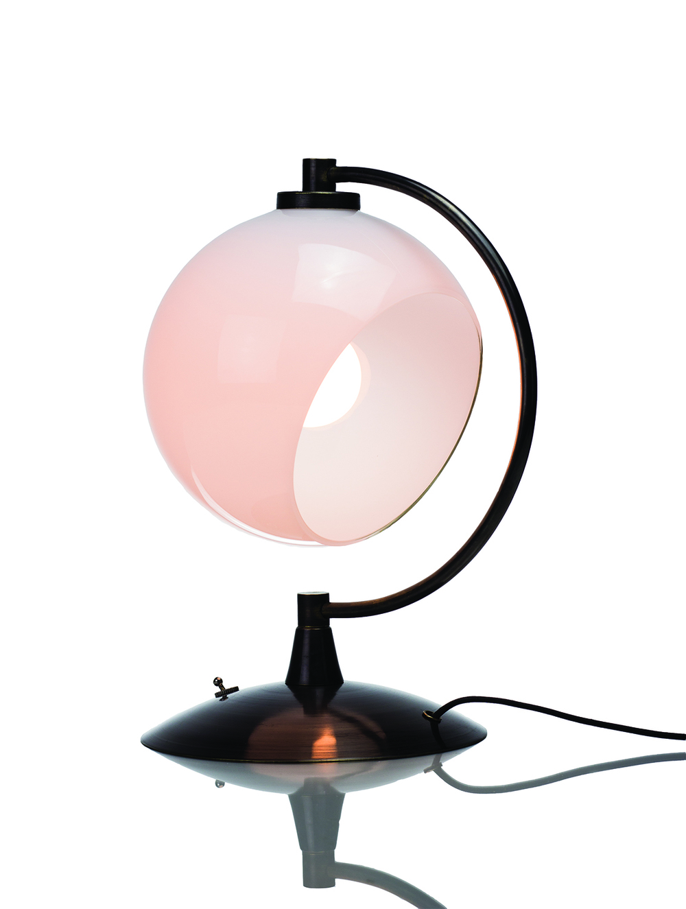 Desk Lamp: White/Black