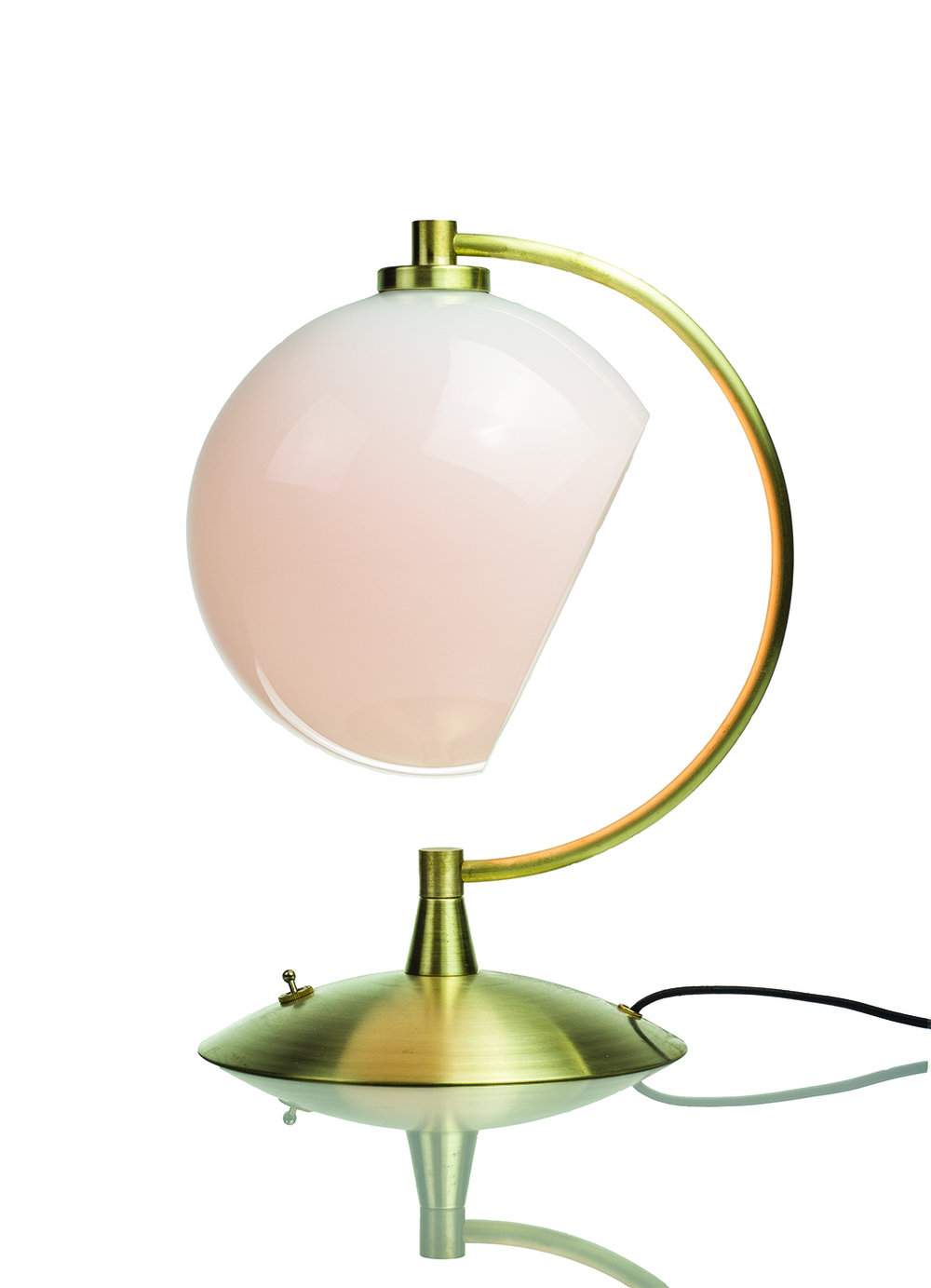 Desk Lamp: White/Brass