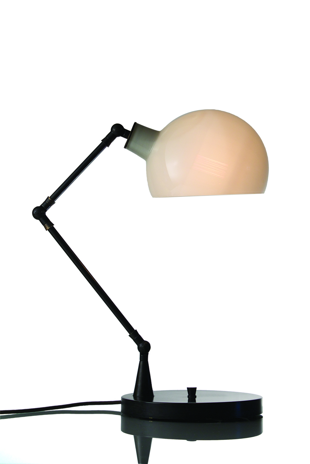 Piano Table Lamp: Ivory/Black