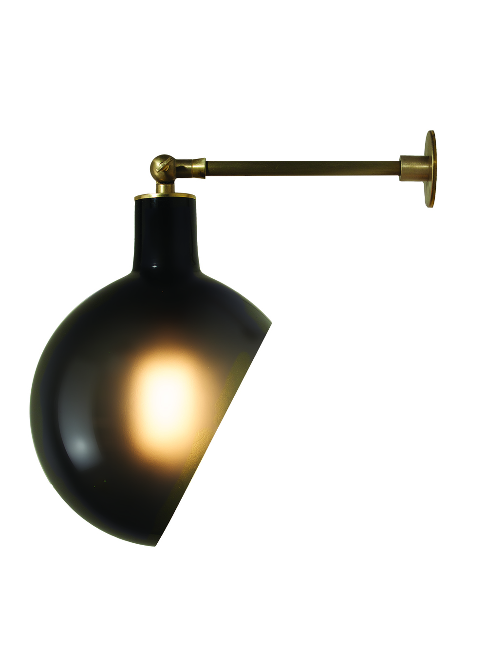 Piano Sconce: Grey/Brass