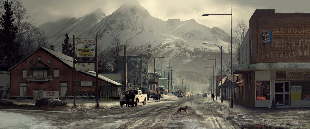 Ext. Yukon town