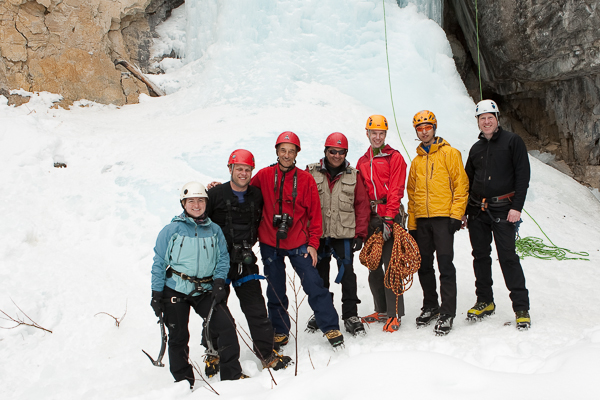 Ice climbing photo day at Haffner Creek