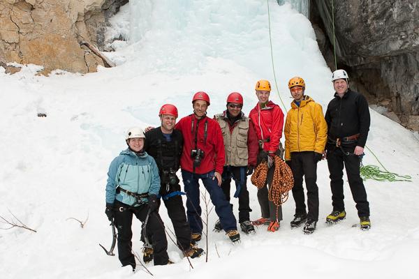Ice climbing photo day at Haffner Creek