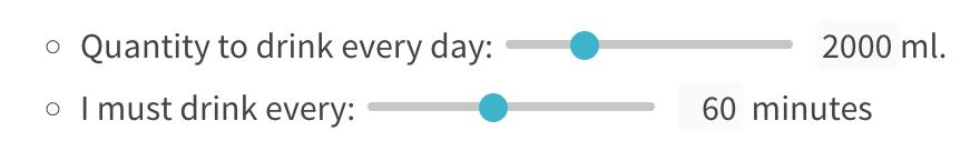 Using Coda's slider widget to set my goals.