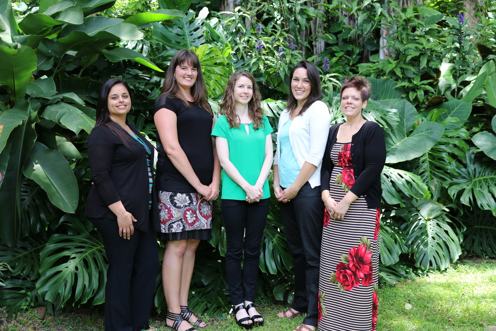 Andrea Juarez, Staci Irish, Dr. Robin Wielins, Dr. Veronica Henson, Daria Ellis