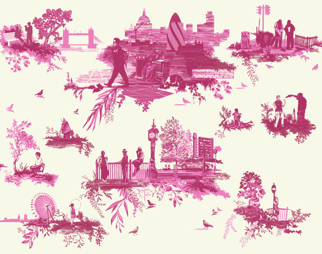 London Toile fabric by Timorous Beasties
