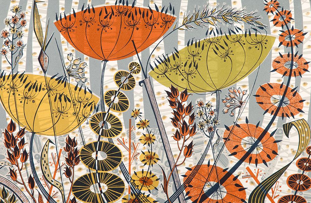 Spey Birches- Angie Lewin