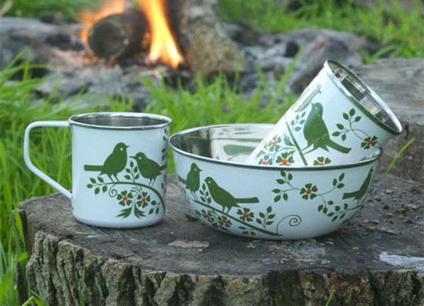 Bird song camping set