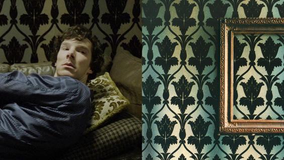 Sherlocks living room-Nureyev wallpaper