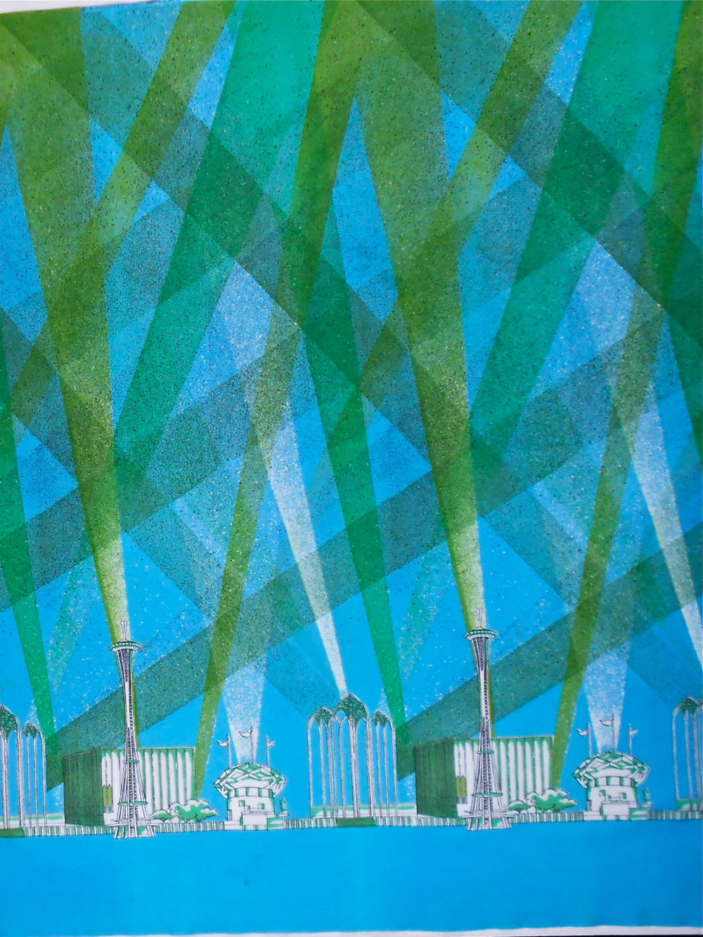Retro World Fair  Seattle 1962 Fabric