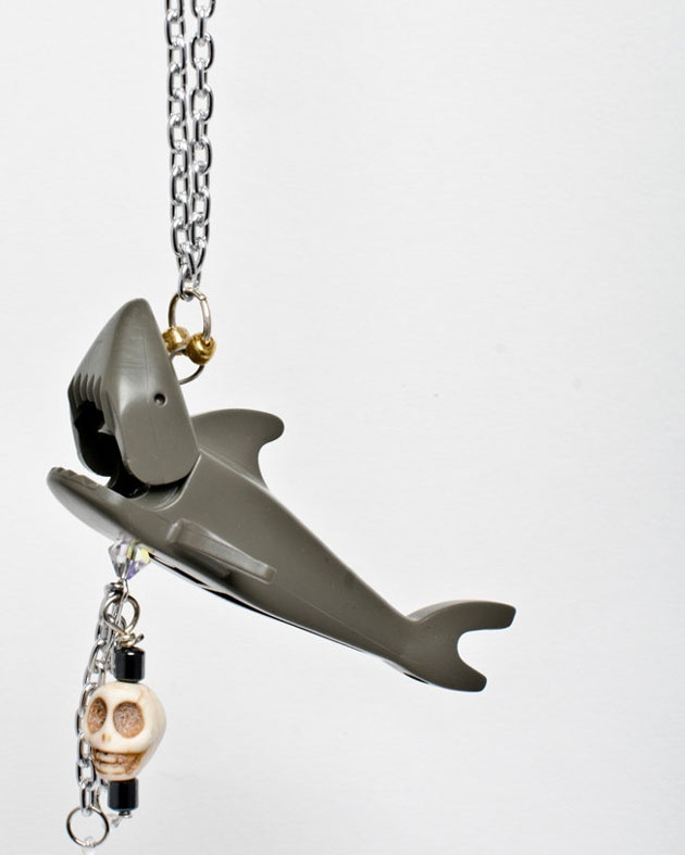 Lego shark necklace creation