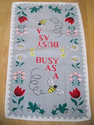 Busy as a Bee tea towel