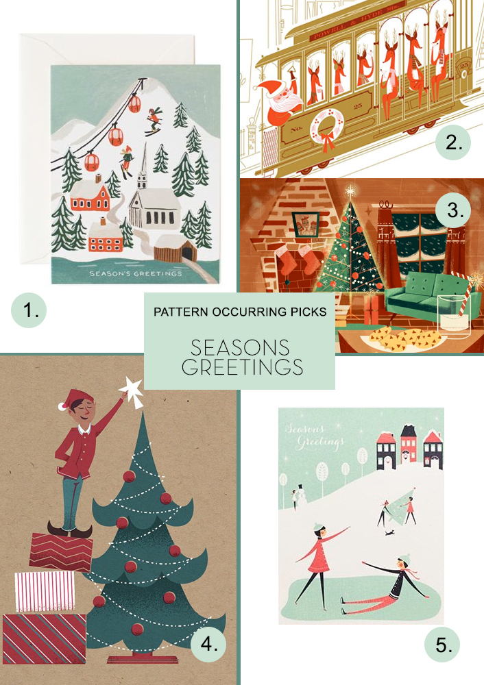 Pattern Occurring Picks Seasons Greetings