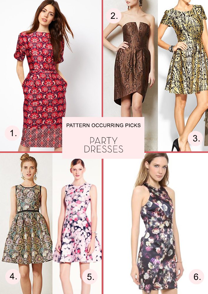 Pattern-Occurring-Picks-Party-Dresses