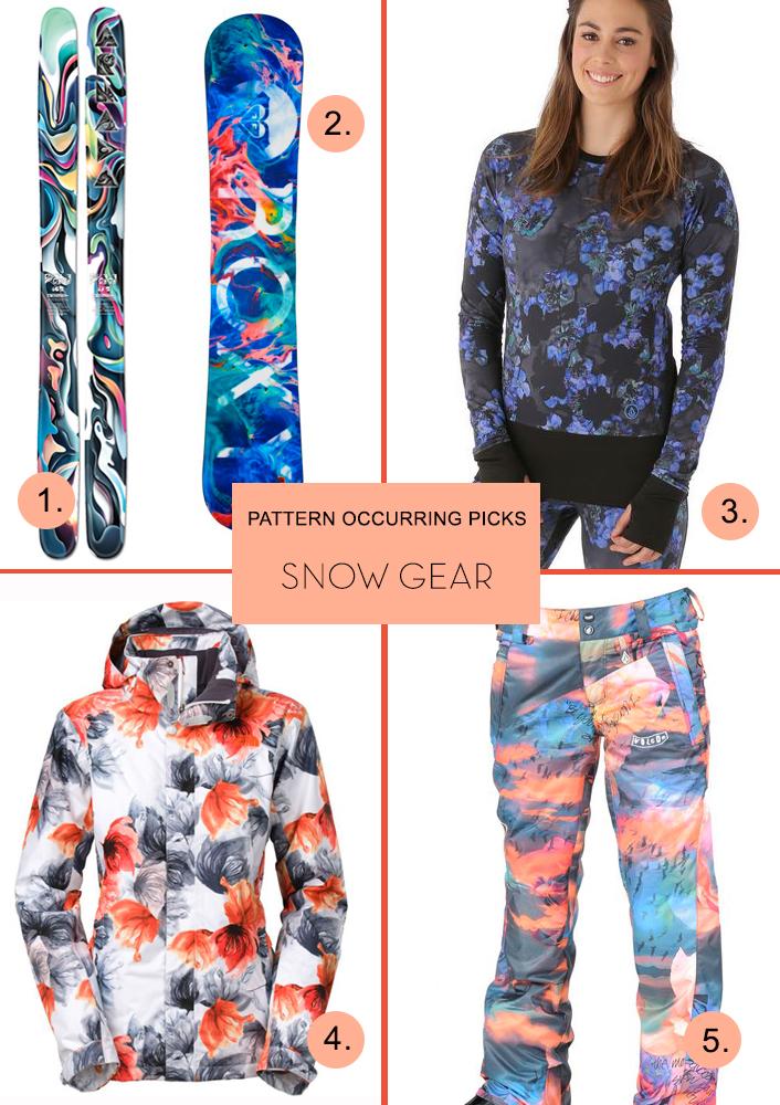 Pattern Occurring Picks - Snow Gear