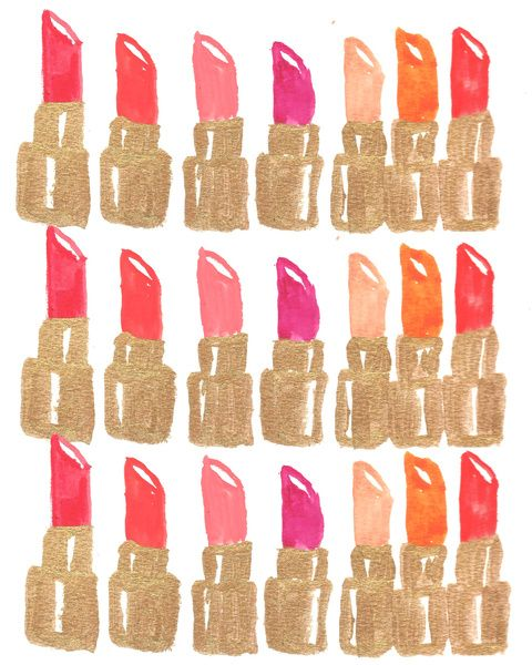 lipstick illustraion