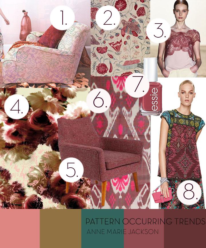 Marsala Pantone Pattern Occurring Anne Marie JAckson