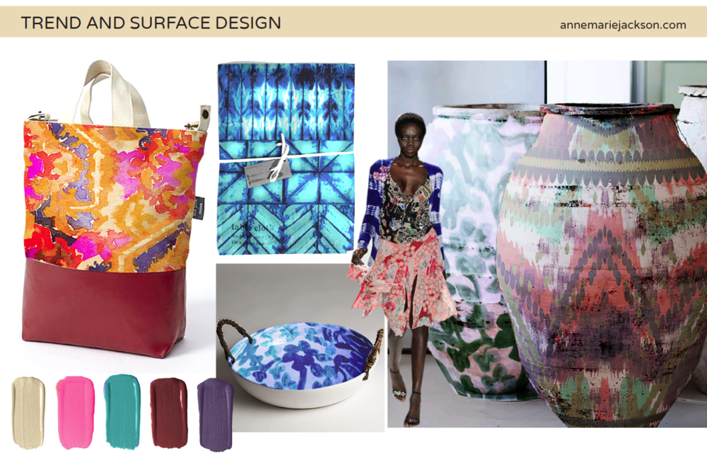 Anne Marie Jackson Textile and Surface Designer  Trend Forecaster