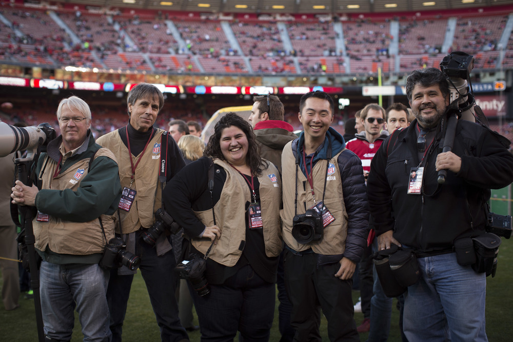 Team photo at our last home game at Candlestick this season.