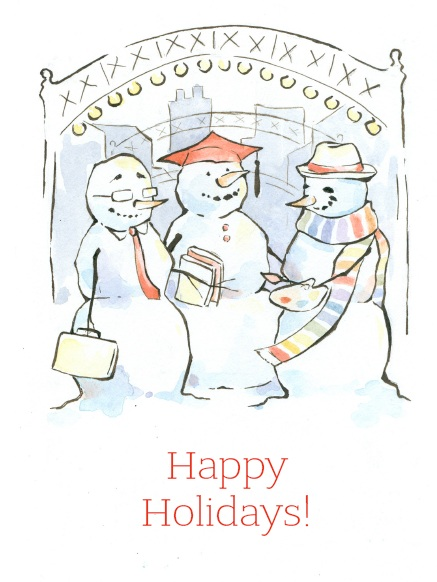 Click on the image of the finalized holiday card to read about it in the CCAD blog.