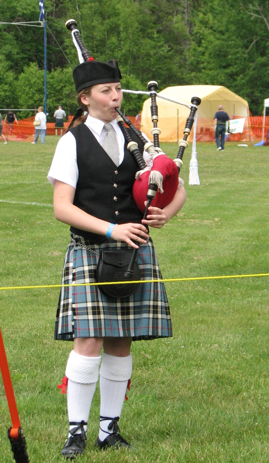 Brittany started on bagpipes in 2009 and has won several major awards including; the ACPBA Piobaireachd Challenge Pewter Medal along with the Scott Williams Piobaireachd Challenge Cup and black wood chanter. She was awarded the Sandy MacLean Memorial Trophy and also completed a week at the Gaelic College in Saint Ann's in Cape Breton, NS, made possible by a bursary from the ACPBA. In 2012 she won the ACPBA Piobaireachd Challenge copper medal and the Pipe Major William Magennis  Piobaireachd Challenge Cup. Brittany is a member of the Clan Thompson Pipe Band. She is a student of Madelyn Evans-Langlois who is her piping instructor and Pipe Major Scott Williams is her Piobaireachd instructor.