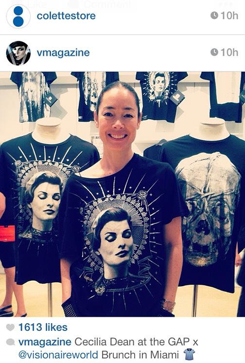 Cecilia Dean in Visionaire Tee Art Basel Miami