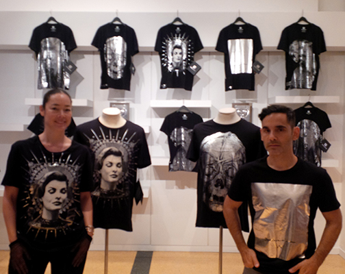 James Kaliardos and Cecilia Dean in Visionaire Tees