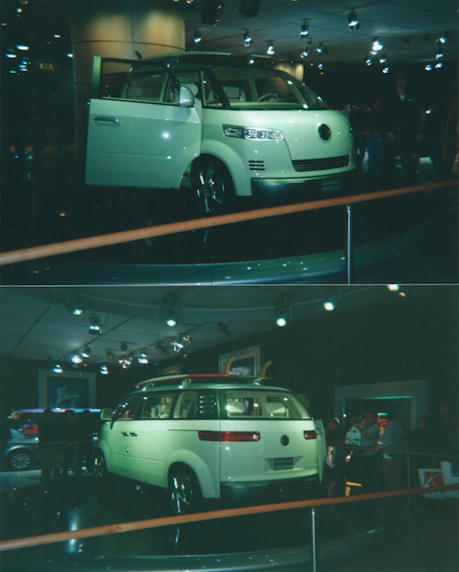 VW Microbus Concept taken at the 2001 NAIAS by the author.