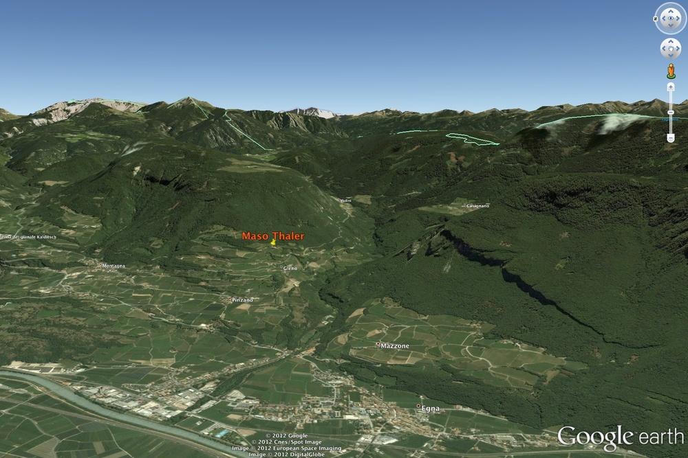 La zona di produzione del Pinot Nero Alto Adige