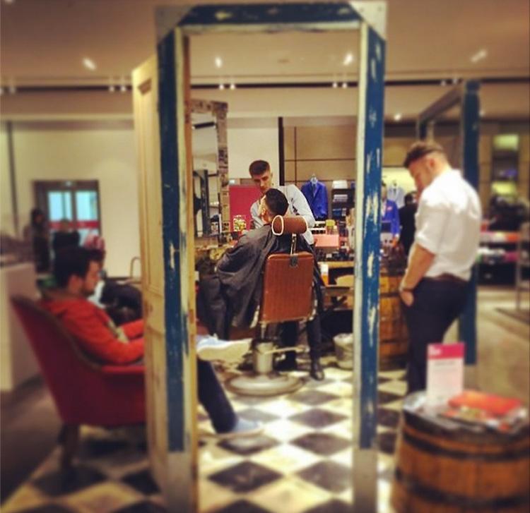 first week in selfridges manchester gladstone gentleman 39 s grooming classic barbers redefined. Black Bedroom Furniture Sets. Home Design Ideas