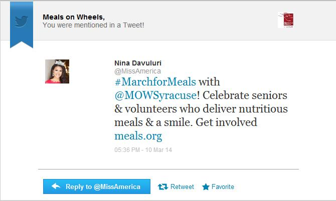 Miss America 2014 Tweets Syracuse March for Meals.jpg
