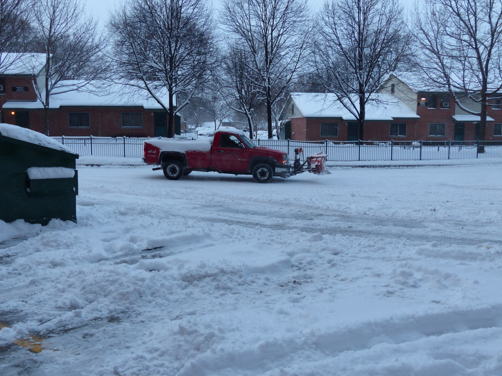 MEALS ON WHEELS PARKING LOT GETS PLOWED EARLY