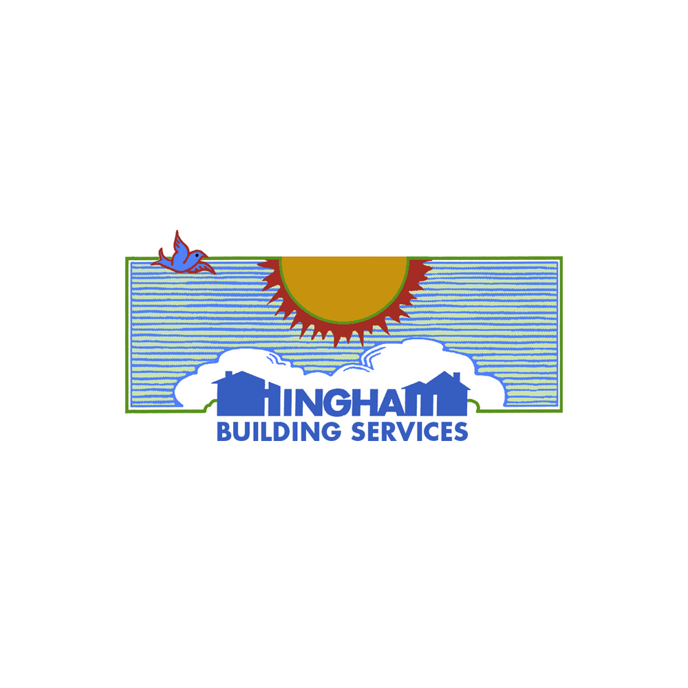 Hingham Building Services logo for commercial development company