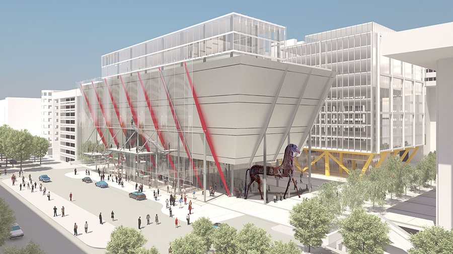 The new International Spy Museum and the Trojan Horse. This depiction is subject to change.