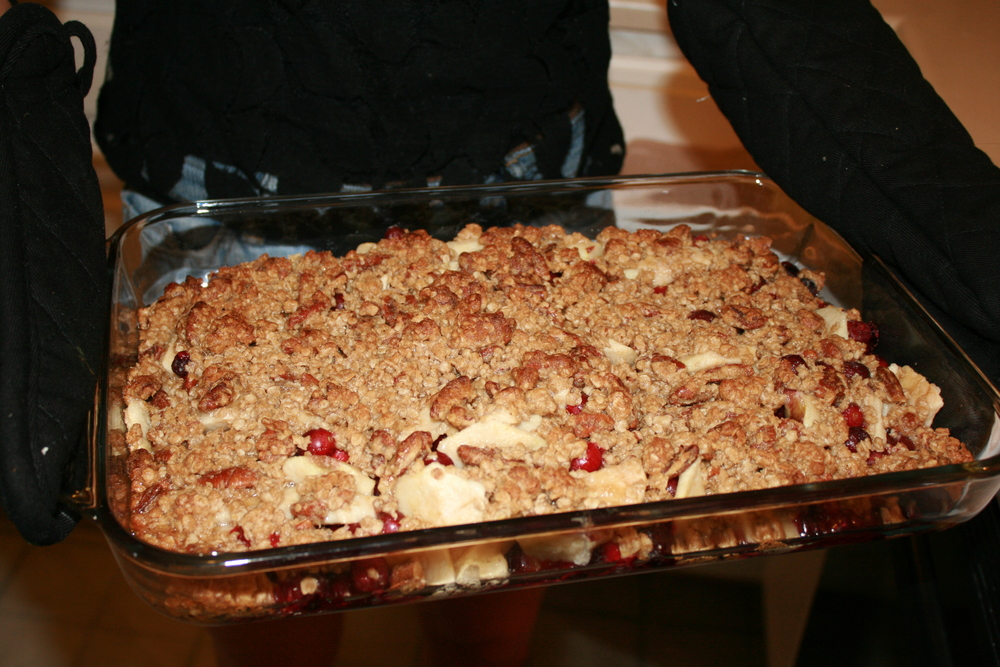 Bake for 45 minutes, and finish with a warm, delicious cran-apple creation!
