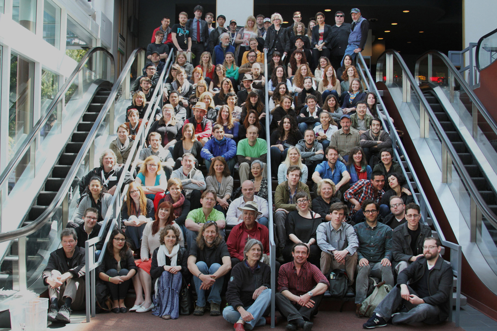 It all starts here! This is the core staff for SFIFF55, who all worked their asses off to make the Festival happen.  Photo by George F. Gund