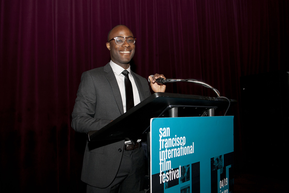 Local filmmaker Barry Jenkins emcee'd the Golden Gate Awards this year, and did a fantastic job.  Also, he can wear the hell out of a suit.  Photo by Pat Mazzera.