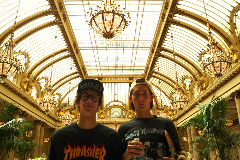 5/2: Best. Filmmaker. Lunch. Ever. Only the Young's Garrison Saenz and Kevin Conway got to experience San Francisco's ornate Palace Hotel. Plus, Golden Slumbers' Davy Chou hooked up an invite to Magic Mountain from Kevin.