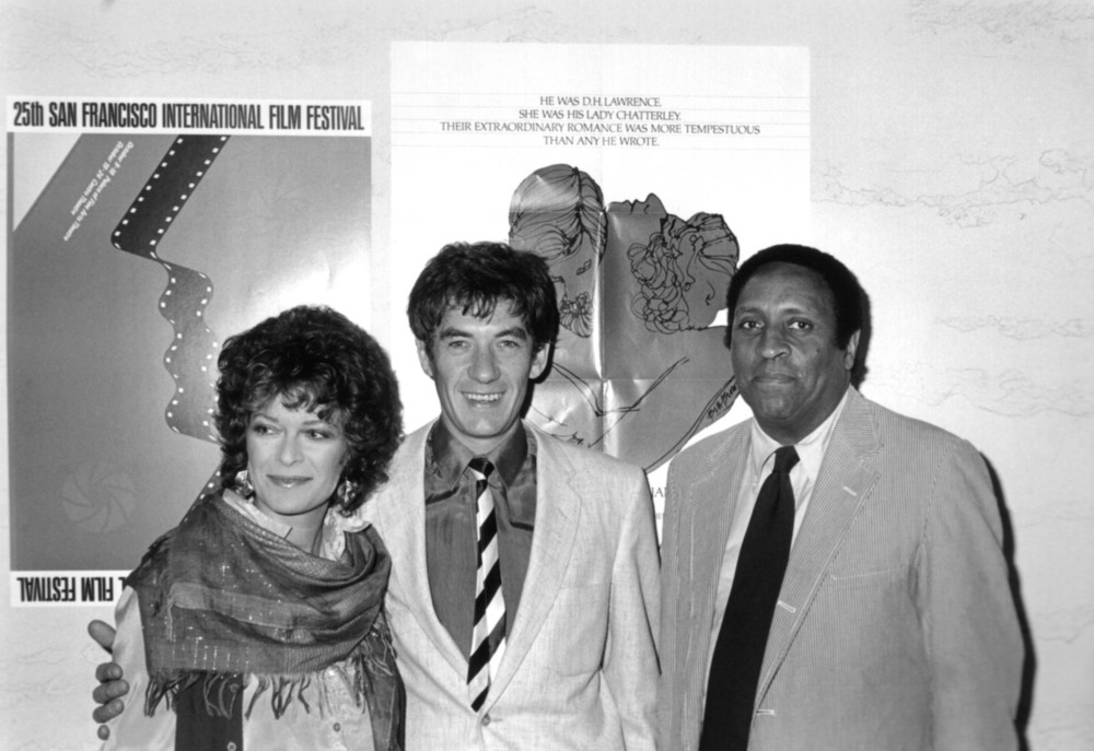 Actress Janet Suzman and actor Ian McKellan, stars of the film Priest of Love, and Festival Program Director Albert Johnson at the 25th San Francisco International, 1981. Photo by Tim Toland.