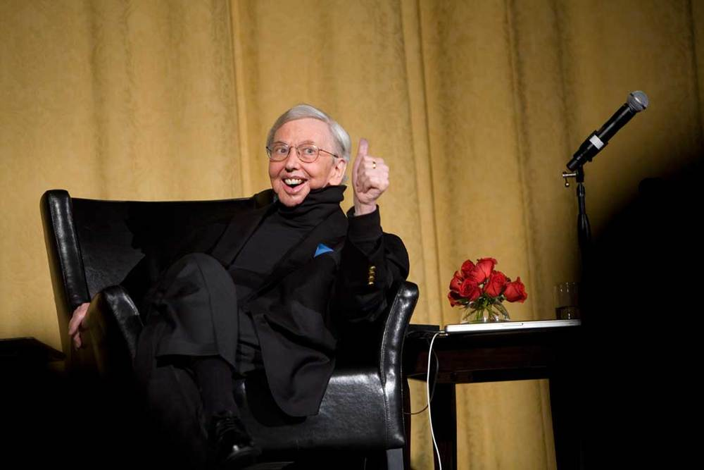 Roger Ebert Gives a Thumbs Up at the SFIFF53 Evening with Roger Ebert and Friends