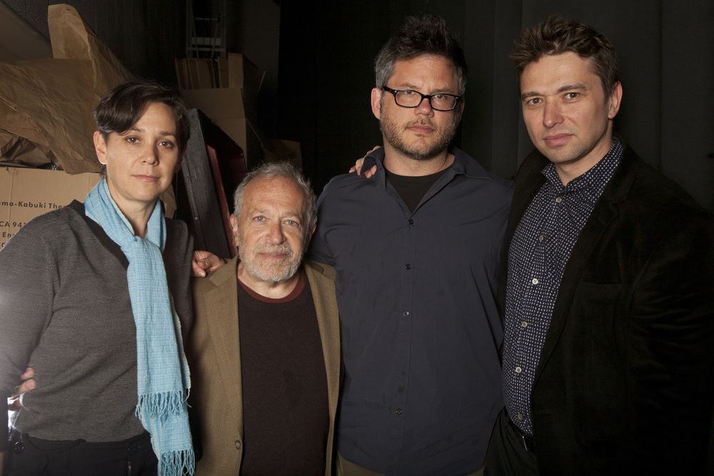 Jennifer Chaiken,  Robert Reich, Jacob Kornbluth and Sebastian Dungan at the Centerpiece  screening of INEQUALITY FOR ALL at the 56th San Francisco International  Film Festival. Photo: Tommy Lau
